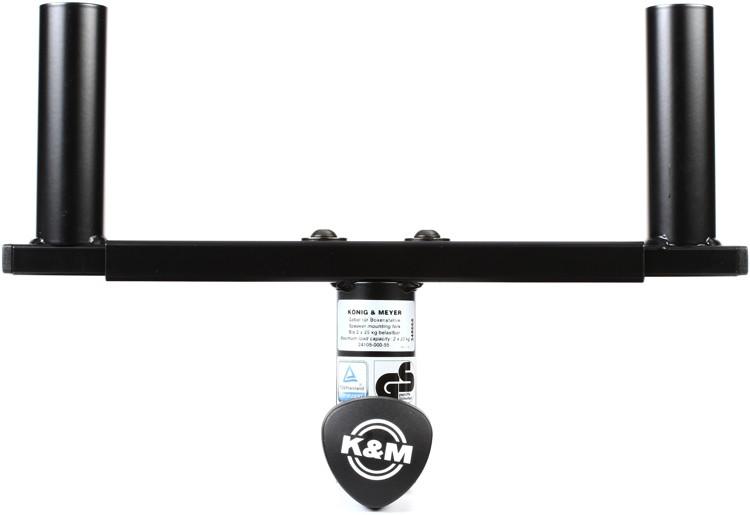 K&M 24105 Speaker Mounting Fork - Black image 1