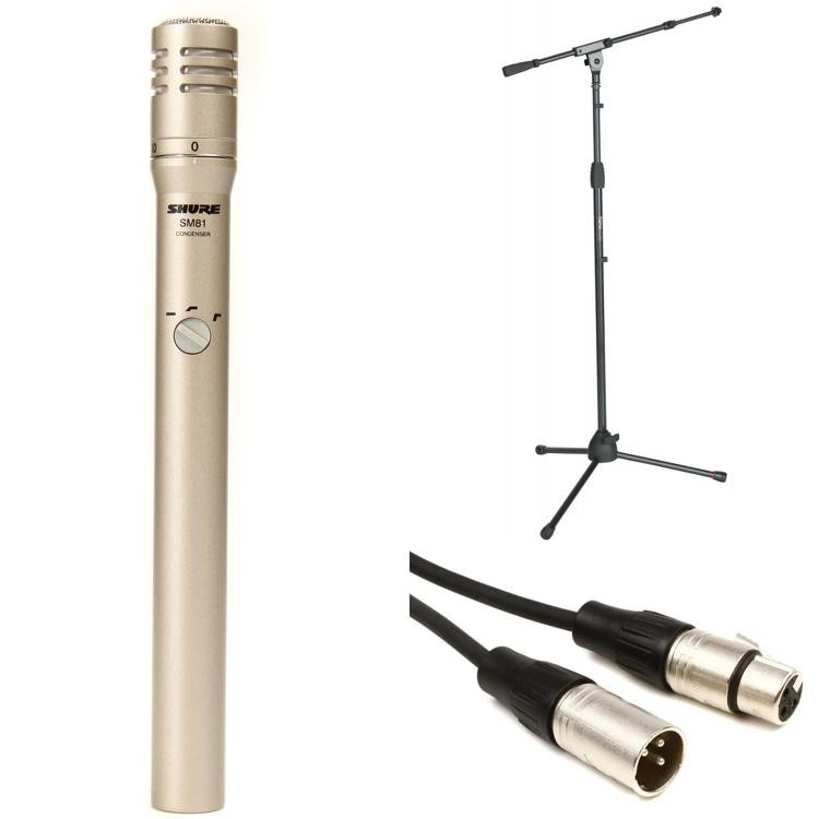 Shure SM81 Stand and Cable Package image 1