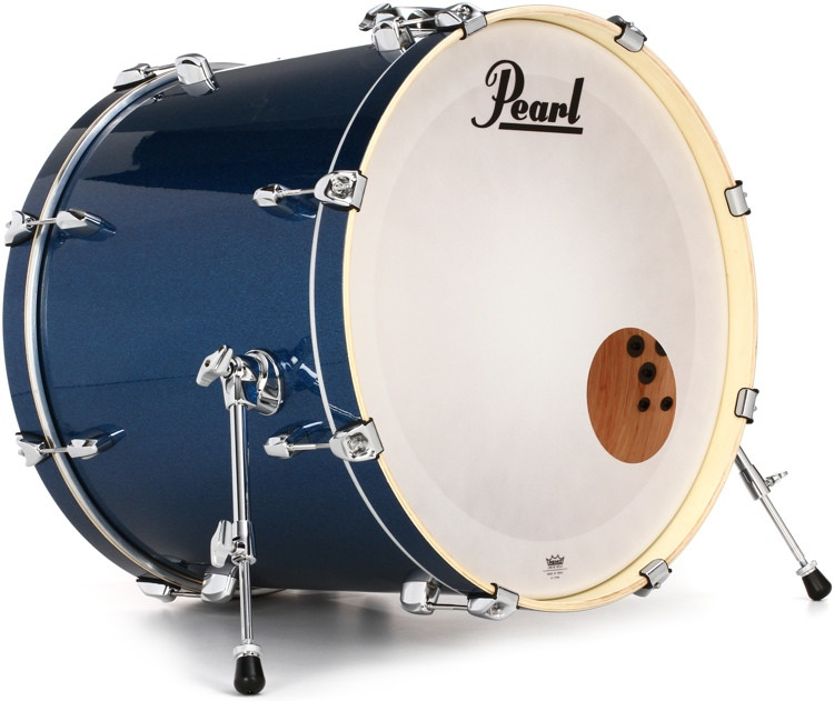 pearl export exx bass drum 22x18 electric blue sparkle sweetwater. Black Bedroom Furniture Sets. Home Design Ideas
