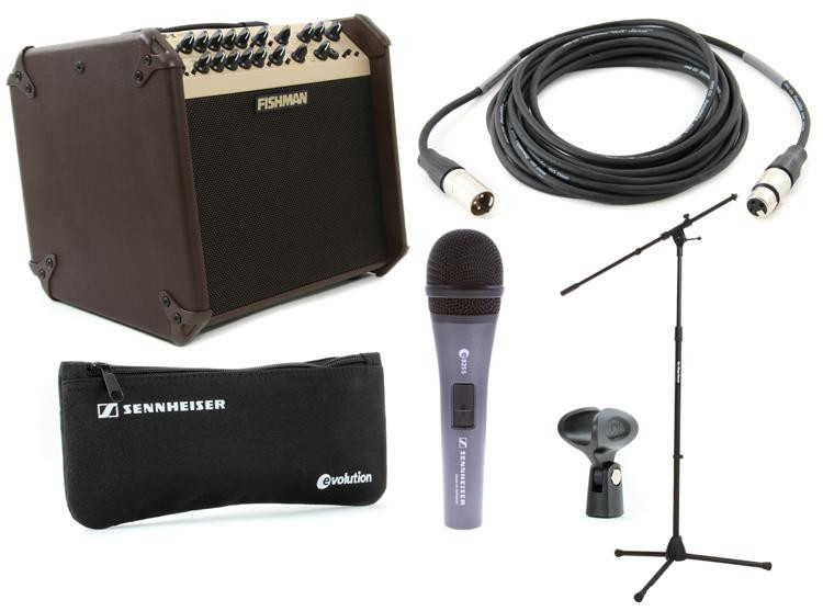 Fishman LoudBox Artist Songwriter Package with Mic, Stand, Cable image 1
