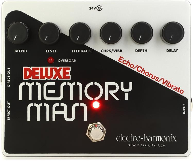 Electro-Harmonix Deluxe Memory Man Analog Delay / Chorus / Vibrato Pedal image 1