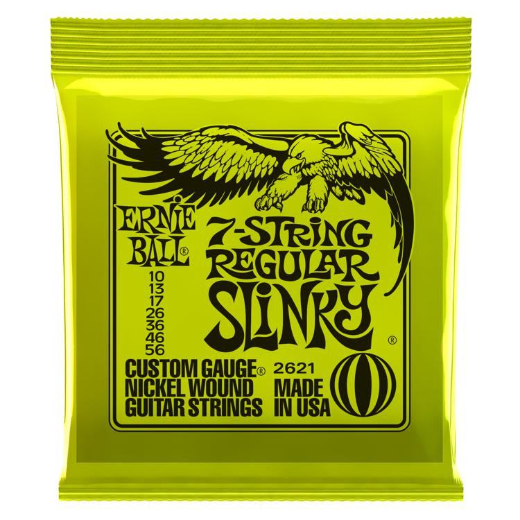 Ernie Ball 2621 7-String Regular Slinky Nickel Wound Electric Strings image 1