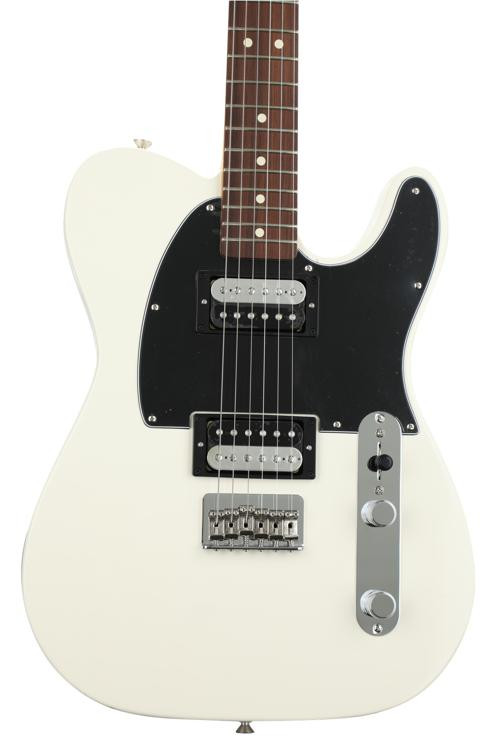 fender standard telecaster hh olympic white with pau ferro fingerboard sweetwater. Black Bedroom Furniture Sets. Home Design Ideas