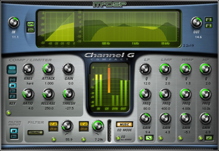 McDSP Channel G Compact Native v6 Plug-in image 1