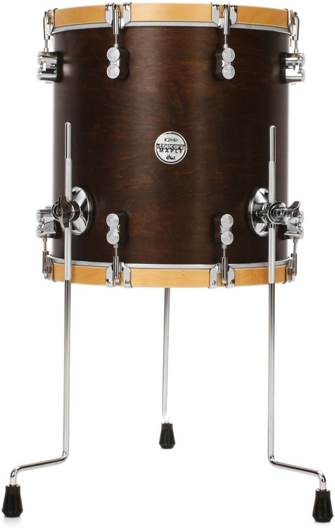 pdp concept maple classic 14 x14 floor tom walnut with natural hoops sweetwater. Black Bedroom Furniture Sets. Home Design Ideas