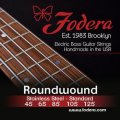 Fodera 45125 Stainless Steel Roundwound 5-string Bass Strings - 0.045-0.125 Medium