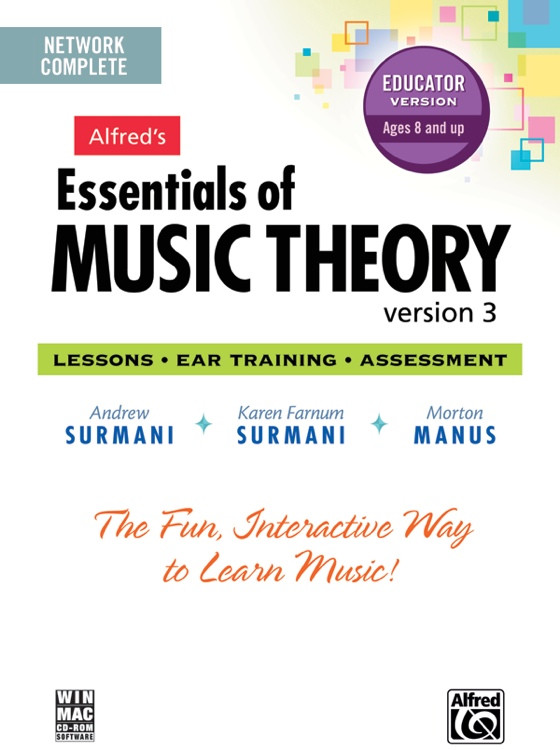 Alfred Essentials of Music Theory 1-3 - 5-user Networked Lab Pack image 1