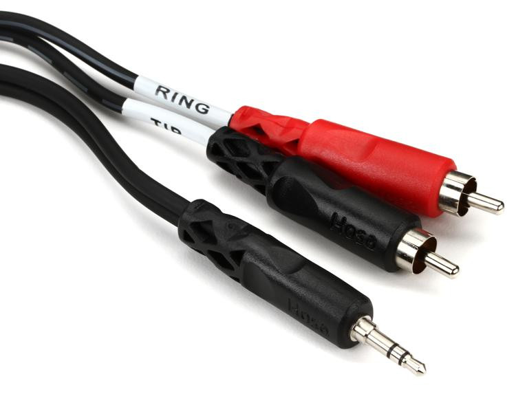 Hosa CMR-206 - 6\', 3.5mm TRS to Dual RCA Cable image 1