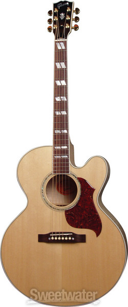 gibson acoustic j 185 ec blues king electro antique natural gold hw sweetwater. Black Bedroom Furniture Sets. Home Design Ideas