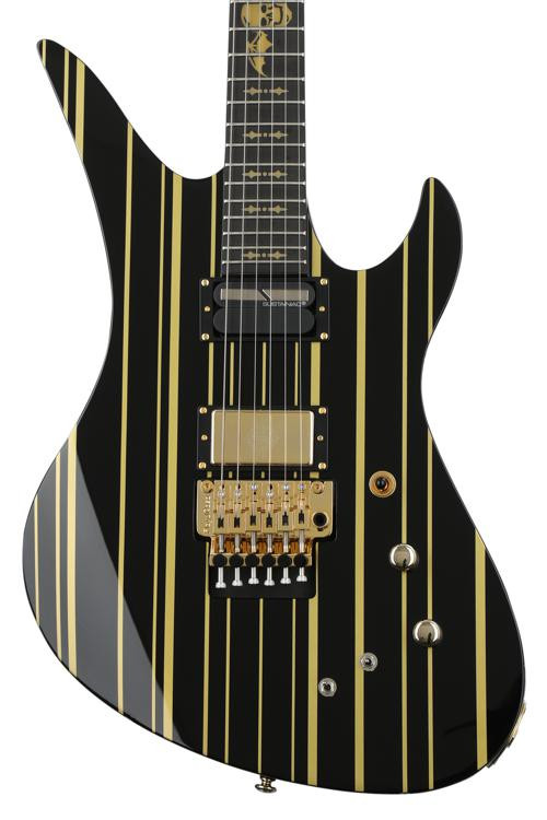Schecter Synyster Gates Custom S Black With Gold Stripes