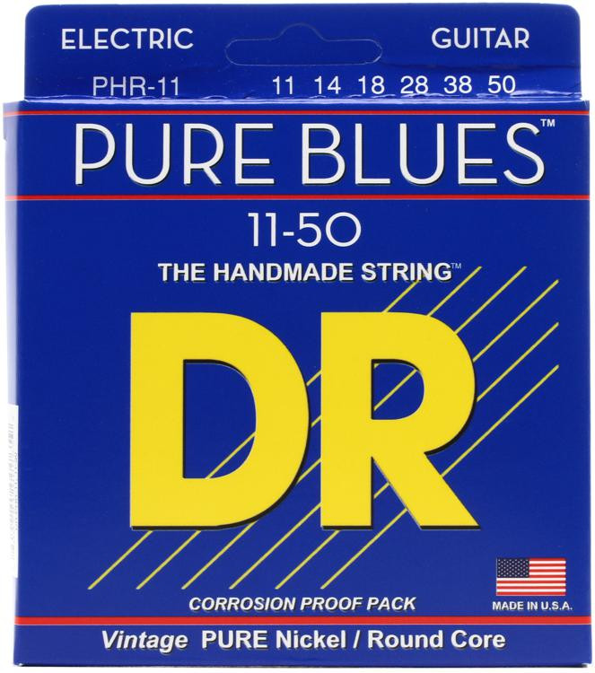 DR Strings PHR-11 Pure Blues Pure Nickel Heavy Electic Guitar Strings image 1