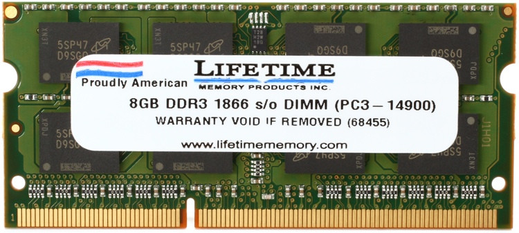 Top Tier PC3-14900 SO-DIMM - 8GB DDR3 1867MHz image 1