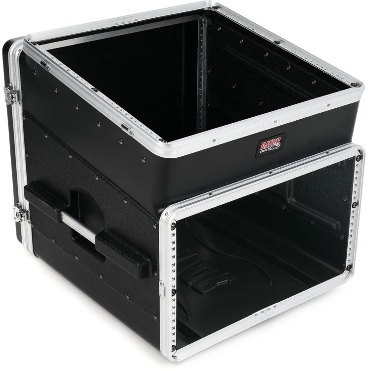 Gator GRC-10X6 - 10U Top, 6U Side Console Audio Rack image 1
