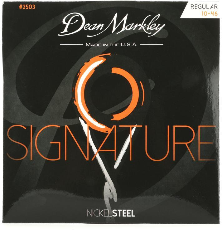 dean markley 2503 nickel steel electric guitar strings 010 046 regular sweetwater. Black Bedroom Furniture Sets. Home Design Ideas