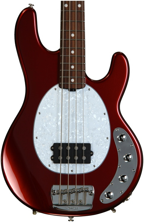 ernie ball music man stingray 4 h neck through candy apple red rosewood fingerboard sweetwater. Black Bedroom Furniture Sets. Home Design Ideas