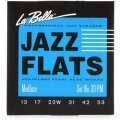 La Bella 20PM Jazz Flats Stainless Steel Flatwound Electric Guitar Strings - Medium