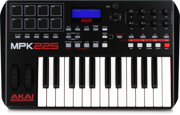 akai professional mpk225 keyboard controller sweetwater. Black Bedroom Furniture Sets. Home Design Ideas
