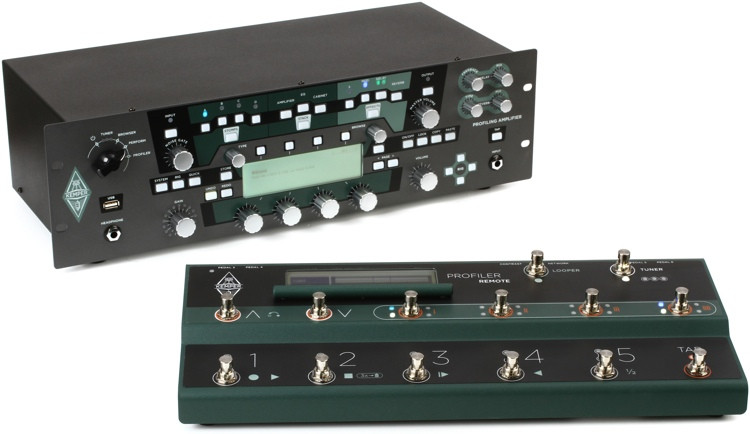 Kemper Profiler Power Rack + Profiler Remote - 600-watt Rackmount Profiling Amp Head with Remote Controller image 1