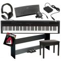 Yamaha P-115 Deluxe Keyboard Bundle - Black