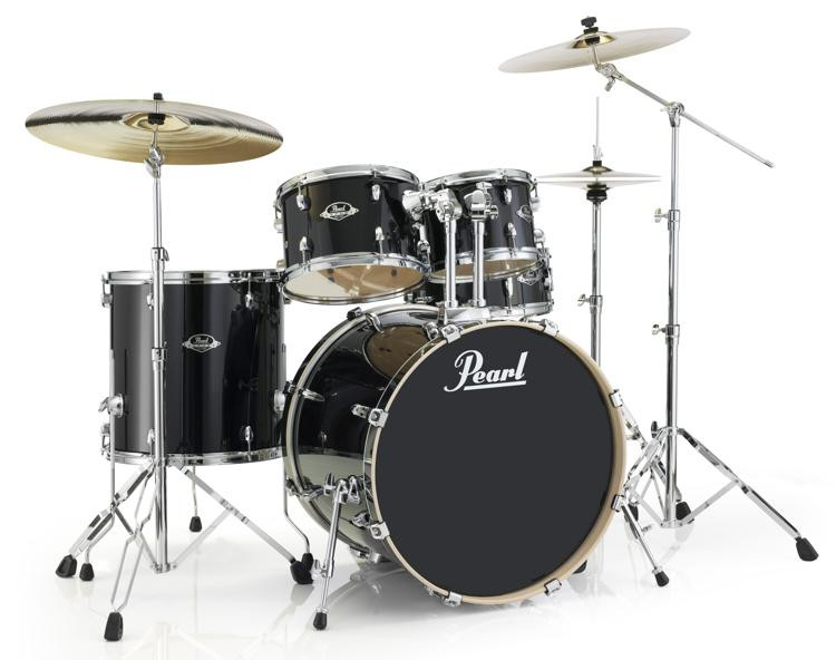 Pearl Export EXL 5-piece Shell Pack with Snare Drum - Black Smoke image 1
