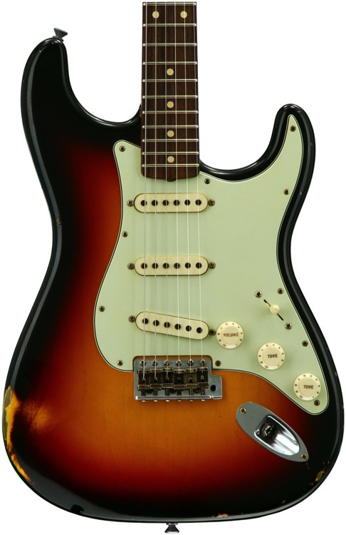 Fender Custom Shop 1961 Relic Stratocaster - 3-color Sunburst with Rosewood Fingerboard image 1