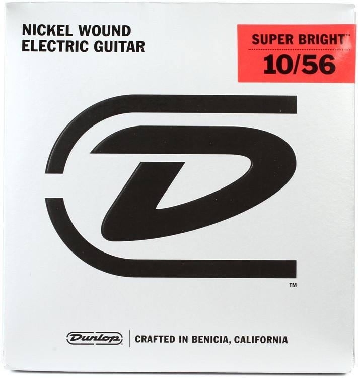 Dunlop Super Bright Electric Strings - .010-.056, Medium 7-String image 1