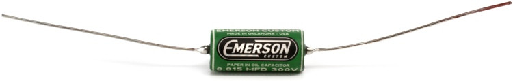 Emerson Custom Paper in Oil Tone Capacitor - 0.015uf Green and Cream image 1