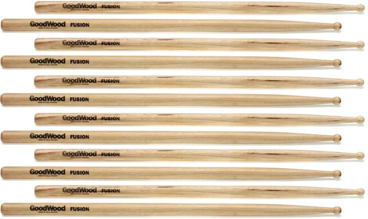 Goodwood US Hickory Drumsticks - 6 Pair - Fusion - Wood Tip image 1
