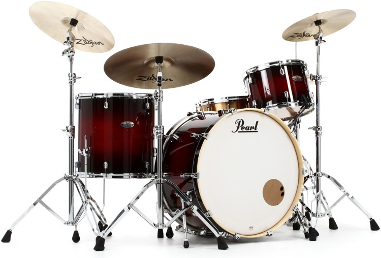 Pearl Decade Maple Shell Pack - 3pc - Redburst image 1