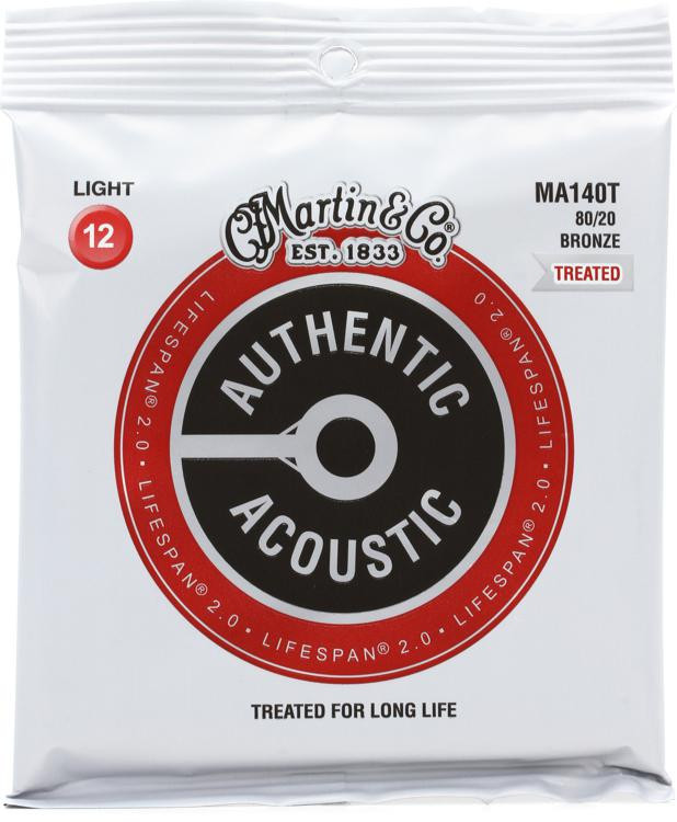 martin authentic acoustic lifespan 2 0 treated guitar strings 80 20 bronze light sweetwater. Black Bedroom Furniture Sets. Home Design Ideas