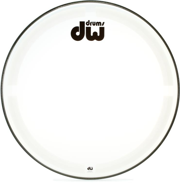 DW Coated/Clear Bass Drumhead - 24