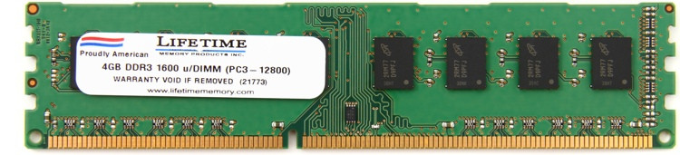Top Tier PC3-12800 DIMM - 4GB DDR3 1600MHz image 1
