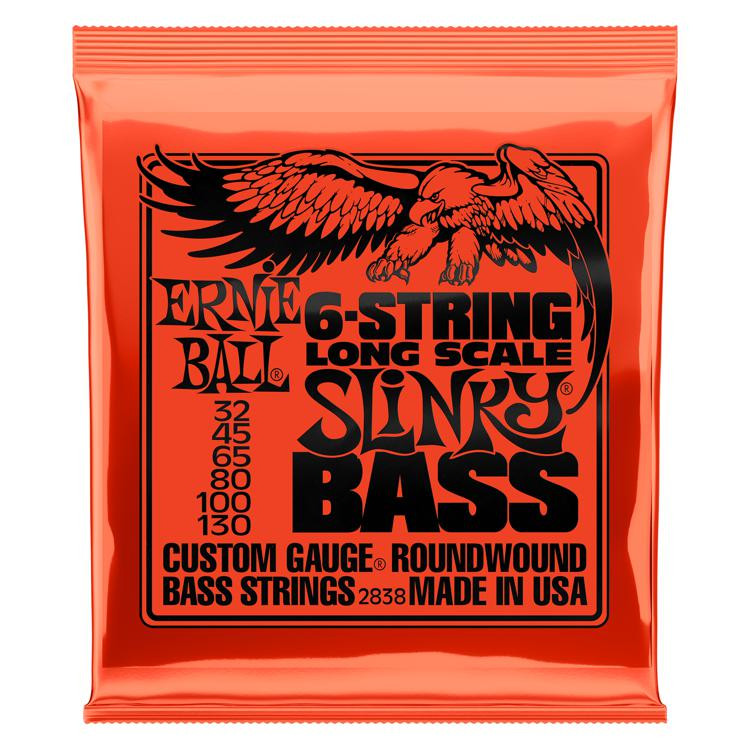 Ernie Ball 2838 Slinky Roundwound Long-Scale 6-String Bass Strings image 1
