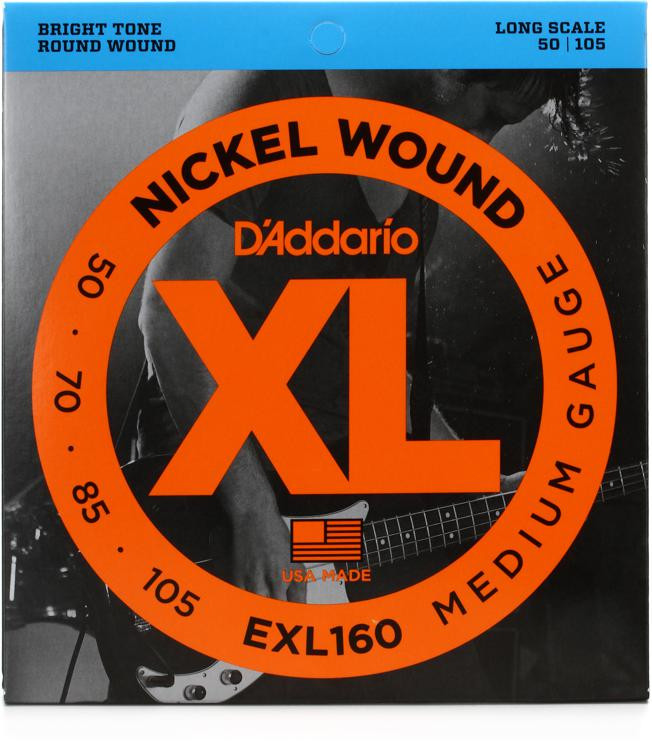 D\'Addario EXL160 Nickel Wound Long Scale Medium Bass Strings image 1