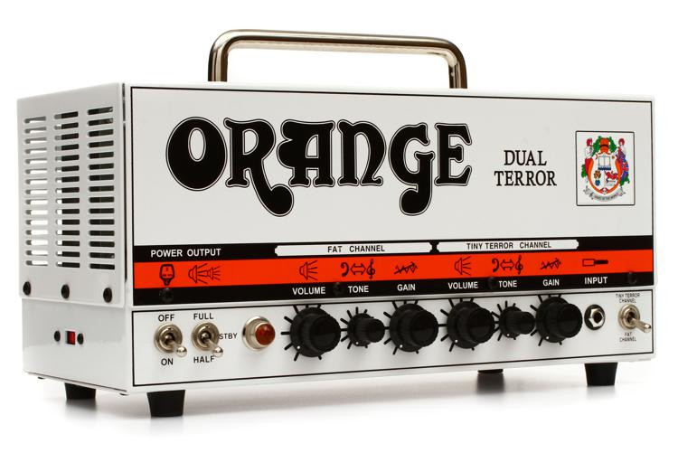 Orange Dual Terror 30/15/7-watt 2-channel Tube Head image 1
