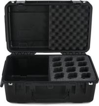 SKB 3I-2011-MC12 iSeries Waterproof Mic Case - Holds 12 Mics w/Storage