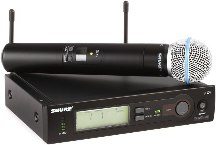 Shure SLX24/Beta58 Handheld Wireless System - H19 Band, 542-572MHz image 1