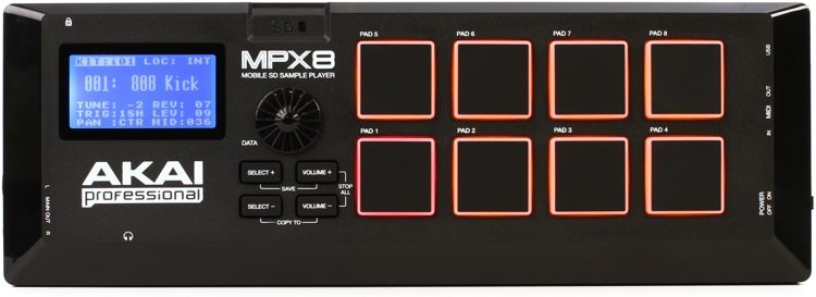 Akai Professional MPX8 SD Sample Pad Controller | Sweetwater