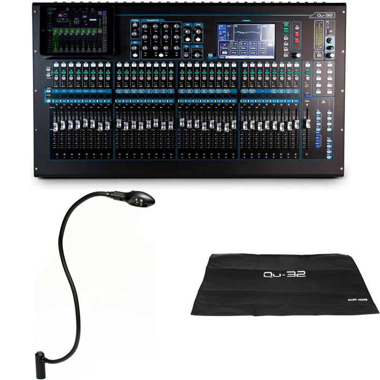 allen heath qu 32 digital mixer with dust cover and ledlamp sweetwater. Black Bedroom Furniture Sets. Home Design Ideas