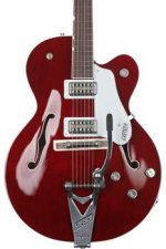 Gretsch G6119T Players Edition Tennessee Rose - Deep Cherry Stain, Bigsby