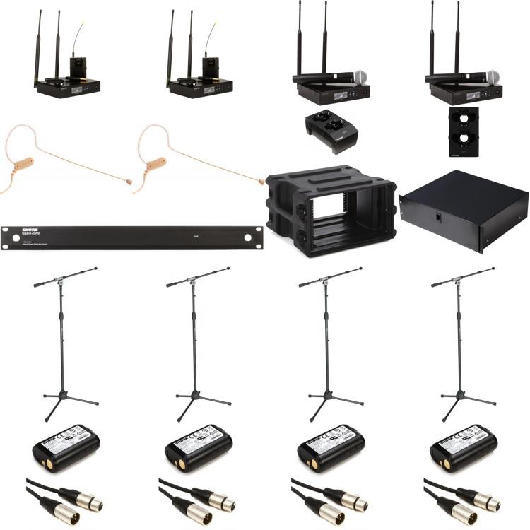 shure qlxd complete wireless handheld and headset microphone system sweetwater. Black Bedroom Furniture Sets. Home Design Ideas