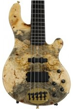 Lakland 55-94 Deluxe, Exotic Top - Buckeye Burl with Ebony fingerboard & Black Headcap