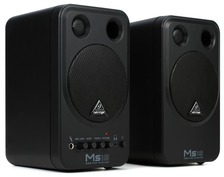 Behringer MS16 16-watt Powered Monitor System image 1