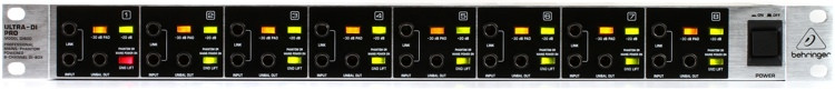 Behringer Ultra-DI Pro DI800 8-channel Active Instrument Direct Box image 1