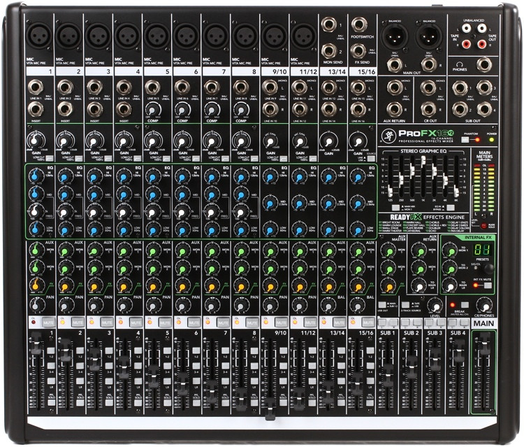 Mackie ProFX16v2 Mixer and USB Audio Interface with Effects image 1