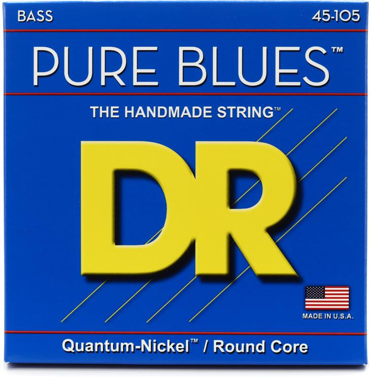 DR Strings PB-45 Pure Blues Quantum-nickel Bass Strings - .45-.105 image 1