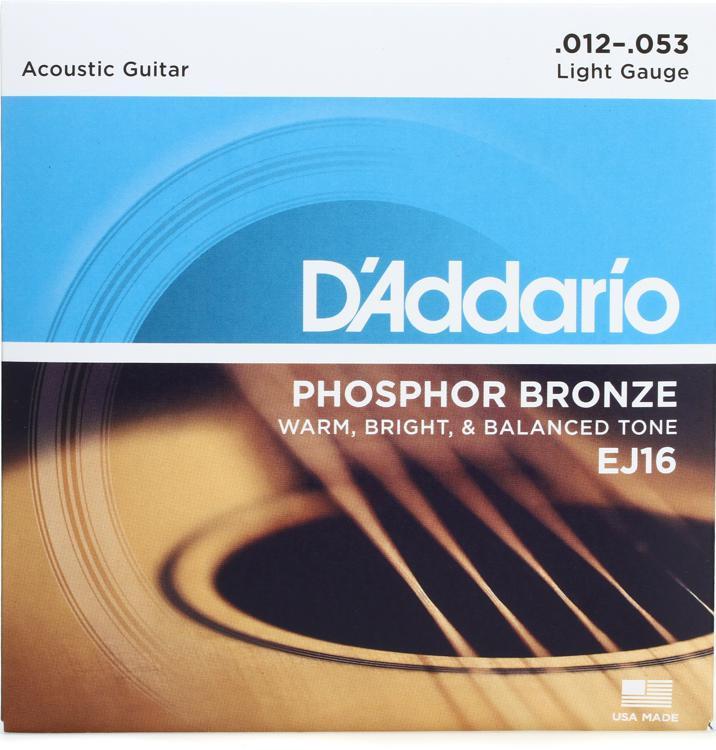 D\'Addario EJ16 Phosphor Bronze Light Acoustic Strings image 1