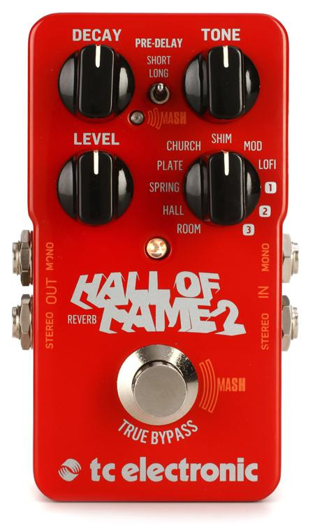 tc electronic hall of fame 2 reverb pedal sweetwater. Black Bedroom Furniture Sets. Home Design Ideas