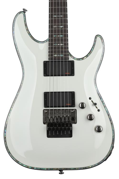 Schecter Hellraiser C-1 with Floyd Rose - Gloss White image 1