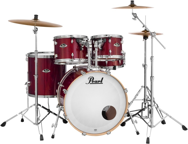 Pearl Export EXL 5-piece Shell Pack with Snare Drum - Natural Cherry image 1